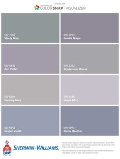Home Decorating Websites Stores Grey Purple Paint, Purple Gray Bedroom, Grey Bedroom Paint, Purple Rooms, Grey Paint Colors, Paint Colors For Living Room, Paint Colors For Home, Bedroom Colors, House Colors