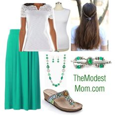 Classic Green - The Modest Mom outfits
