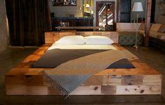 sunken bed on raised platform