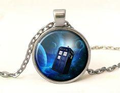 DR WHO Necklace,TARDIS Pendant, 0338POS from EgginEgg by DaWanda.com