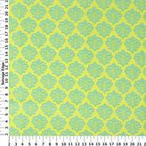 Absolute Medallion Green/Yellow Cotton Fabric