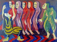 Ernst Ludiwg Kirchner, Mary Wigman's Dance of the Dead, 1926-1928