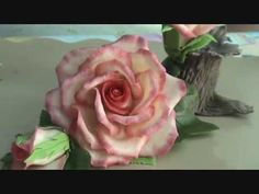 Elaboración de flor Rosa. Segunda parte