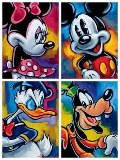 """""""Minnie"""" by Tim Rogerson """"Mickey"""" by Tim Rogerson """"Donald Duck"""" by Tim Rogerson…"""