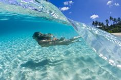 Half Underwater Photos - Just to make you feel like you're swimming in the ocean yourself.