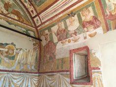 Parete laterale destra con le scene della Danza di Salomè e il Banchetto di Erode