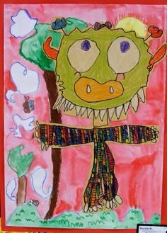 Field Elementary Art Blog!: Different lesson on Wild Things