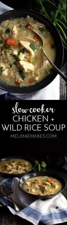 This comforting Slow Cooker Chicken and Wild Rice Soup couldn't be any easier. Staples from your pantry and fridge are combined in just 15 minutes and are slow cooked to perfection. Consider dinner, done! Perfect when served with a side of crusty bread.