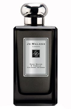Jo Malone Rose Water & Vanilla Cologne Intense: Delectable Turkish delight. Rose water and comforting vanilla enriched with a succulent bite of rose loukoum. Tempting and addictive.