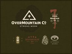 Overmountain Co. Branding designed by Trent Pettit. Connect with them on Dribbble; Brand Identity Design, Branding Design, Outdoor Logos, Badge Logo, Badge Design, Photo Logo, Fish Design, Visual Communication, Best Graphics