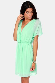 1cc7b66f4260 Mint dresses · Mighty Aphrodite Mint Green Dress at LuLus.com! Mint Dress, Chiffon  Dress,