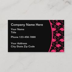 Beach Florida Pink Flamingo Pattern Business Card Beach theme business cards with a pink flamingo background pattern that works well or a Realtor, clothing boutique, or chic and trendy businesses. #Artist Fashion Business Cards, Real Estate Gifts, Flamingo Pattern, Florida Beaches, Pink Flamingos, Beach Themes, Background Patterns, Create Your Own, Unique Gifts
