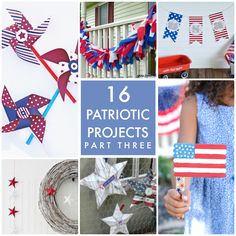 16 MORE Patriotic Projects! So many cute ideas! -- Tatertots and Jello