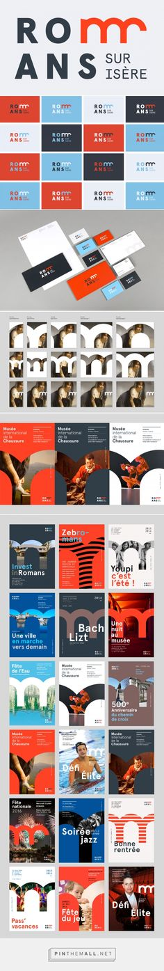 Brand New: New Logo and Identity for Romans-sur-Isère by Graphéine... - a grouped images picture - Pin Them All