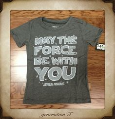 Super Cute. Mini Fine Vintage Star Wars Crayon May The Force Be With You Toddler T | Generation T