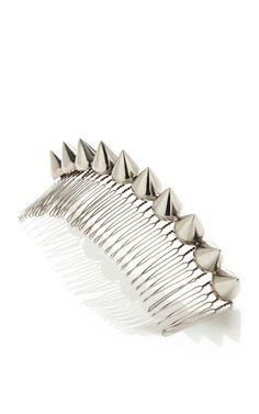 Cone Tiara by Eddie Borgo for Preorder on Moda Operandi #hair #spikes #accessories