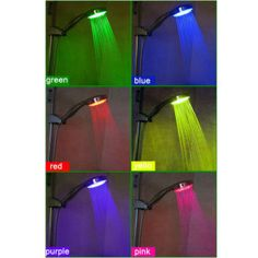 LightInTheBox Color Changing LED Chrome Finish Hand Shower - without Shower Holder Bathroom Shower Heads, Led Shower Head, Bathrooms, Bathroom Ideas, Shower Holder, Jar Chandelier, Color Changing Led, Home Lighting, Pretty Cool
