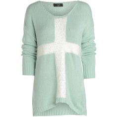 AX Paris Big Heart Slouch Jumper ($38) ❤ liked on Polyvore featuring tops, sweaters, shirts, blusas, mint, green jumper, mint shirt, mint green sweater, mint sweater and slouch shirt