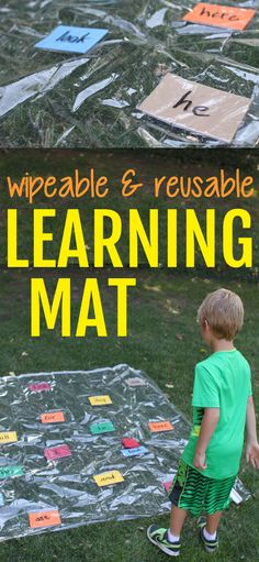 Wipeable and Reusable Learning Mat:  An excellent way to integrate kinesthetic learning into letter recognition, sight words, math equations, etc.