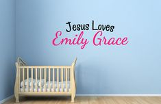 Jesus Loves Me Personalized Vinyl Wall Decal  - Vinyl Wall Art - Nursery Decor - Wall Decor - Nursery Decal