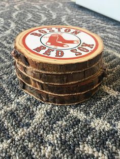 FREE SHIPPING!  Rustic Coasters that are custom with any picture youd like ! Comes as a set of 4 and the cost is $25.00 for 4. A discount will apply for bulk orders - please ask me for more details!  These are perfect for christmas gifts, rustic decorating, wedding favors, wedding gifts, holiday gifts, etc.  **This is not a licensed MLB product. This is handcrafted. Seller name is not affiliated at all with or sponsored by the MLB.