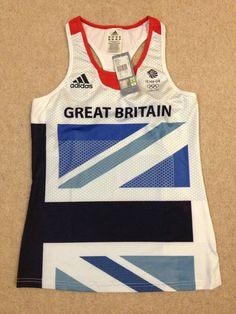 Adidas London Olympics 2012 Team GB womens running shimmel vest Size 12 BNWT top