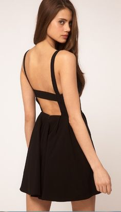 Black Sleeveless Backless Dress - Fashion Clothing, Latest Street Fashion At Abaday.com