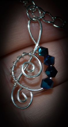 Twisted Music Note CUSTOMIZABLE by XtineStudios on Etsy, $14.00