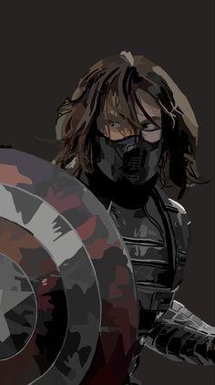 Winter Soldier Digital Art