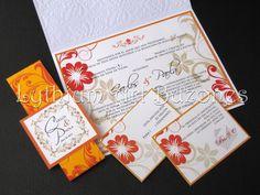 Invitaciones para Boda Naranja & Amarillo | Lythium Art® Design by: Yil Siritt