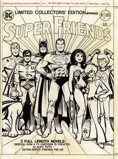 Super friends original art by Alex Toth
