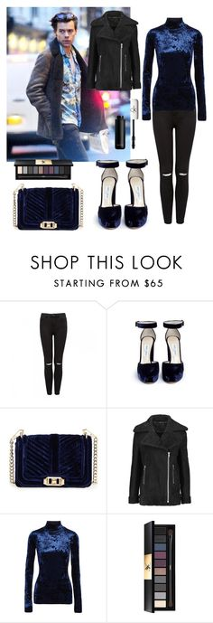 """""""Christmas shopping with Harry"""" by maryanacoolstyles ❤ liked on Polyvore featuring Forever New, Jimmy Choo, Rebecca Minkoff, Maje, TIBI, Yves Saint Laurent and CK One"""
