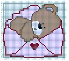 Laurinha - BORDADOS EM PONTO CRUZ: Ursos Gráfico