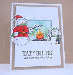 Heather's Hobbie Haven: Toasty Greetings Stamp Set