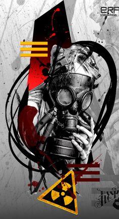 Toxicidad wallpaper by - - Free on ZEDGE™ Graffiti Wallpaper, Cool Wallpaper, Graffiti Art, Wallpaper Backgrounds, Gas Mask Art, Masks Art, Hardstyle Wallpaper, Digital Foto, Trash Polka Tattoo