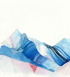Ice Mountains Archival Print