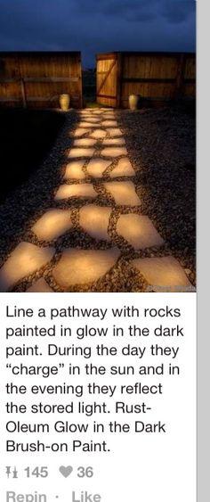 glow in the dark path way