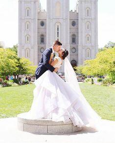 modest wedding dress with full skirt from alta moda.