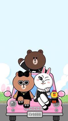Unicornios Wallpaper, Wallpaper Backgrounds, Kawaii Wallpaper, Cony Brown, Brown Bear, Tedy Bear, Cute Animal Drawings Kawaii, Cute Love Cartoons, Friends Wallpaper