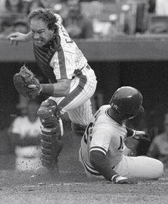 Playing hard...that was Gary Carter, baseball's happy warrior