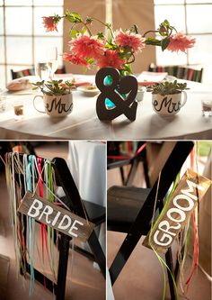 Limefish Studio: Rustic & Romantic Temecula Vineyard Wedding Photos © Ashley Bee | Ampersand Centerpiece | Sweetheart Table