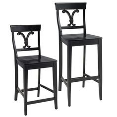 Vienna Bar & Counterstools - Rubbed Black Peir one
