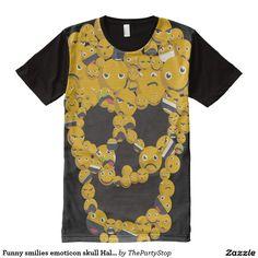 Funny smilies emoticon skull Halloween skeleton