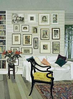 Cressida Campbell, Interior with Black Lacquer Chair, 2007