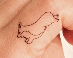 Corgi temporary tattoo- pack of 6