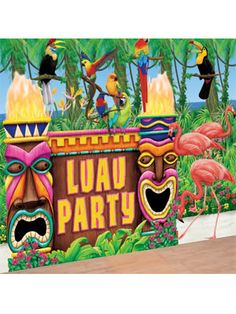 Luau Party kit Hawaii/Beach - Party Superstores