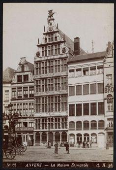 Sint Joris Gildehuis in Antwerpen, GH, 1880 - 1920 Anton Pieck, Old City, Louvre, Building, Travel, Old Pictures, Ruins, Historia, Belgium