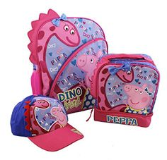 Peppa Pig Drawstring Theme Park Tote Bag Backpack Gym Bag Pink