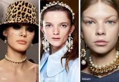 Fall/ Winter Accessory Trends - there were golden chain belts studded with pendants at Marine Serre that we could imagine styled - Fall Accessories, Fashion Accessories, Fashion Jewelry, Fashion Earrings, Mom Jewelry, Fall Jewelry, Ladies Jewelry, Jewelry Model, Jewelry Shop