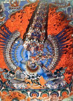 19th C Tibetan Thangka of Blue Tara.